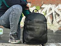 Рюкзак городской из натуральной кожи черный
