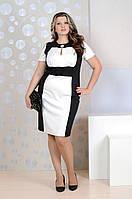Черно-белое платье 0141 GARRY-STAR