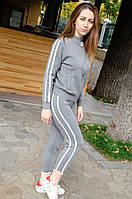 Женский теплый костюм с полоской, фото 1