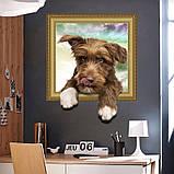 """Інтер'єрна вінілова 3D наклейка на стіну """"Песик"""", фото 3"""