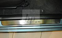 Защитные хром накладки на пороги mitsubishi lancer IX (митcубиси лансер 9) 2000-2007