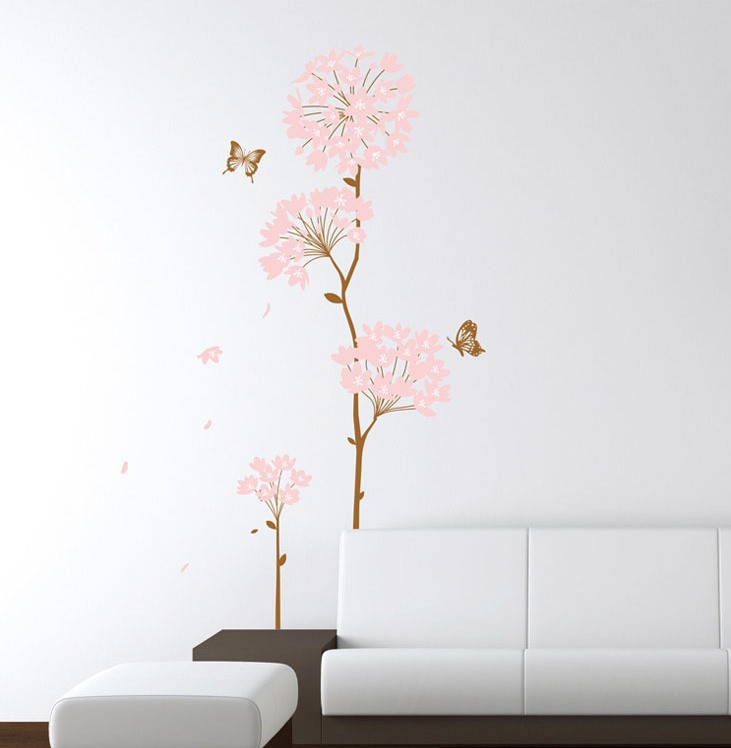 """Інтер'єрна наклейка на стіну """"Квітка"""""""