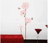 """Інтер'єрна наклейка на стіну """"Квітка"""", фото 2"""
