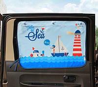 Солнцезащитная шторка-органайзер на окно автомобиля детская