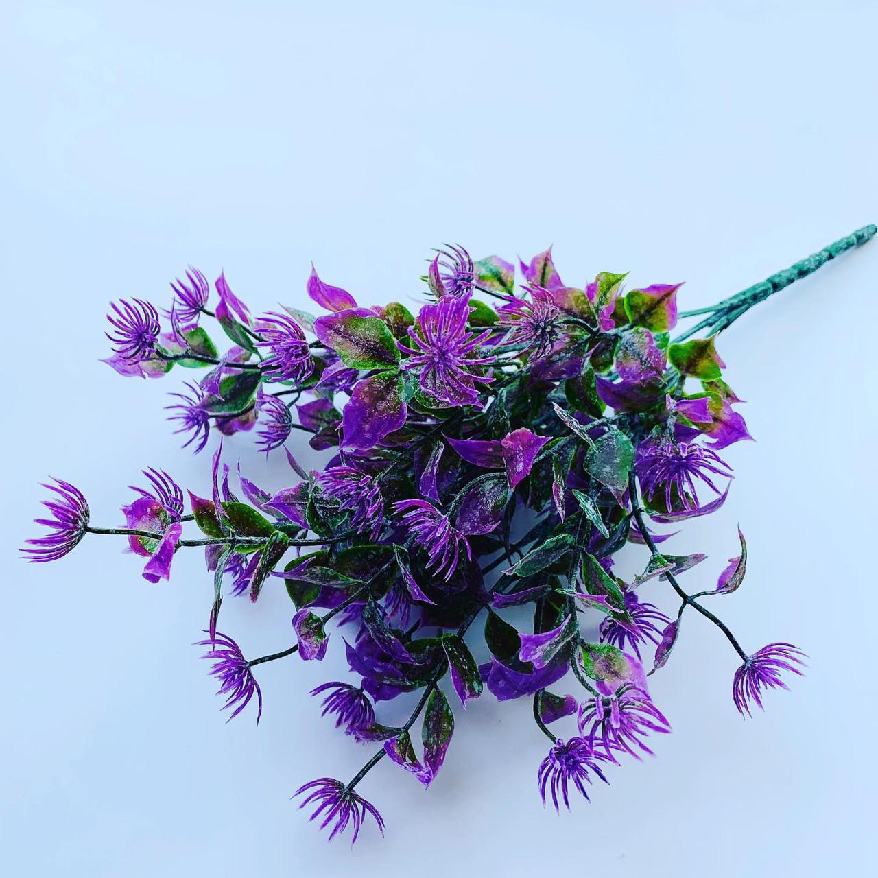 Искусственный пластиковый куст.Куст-дополнитель (сиреневый ).Декоративное растение.