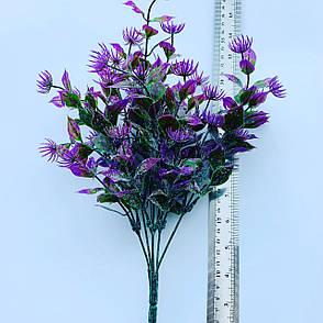 Искусственный пластиковый куст.Куст-дополнитель (сиреневый ).Декоративное растение., фото 2