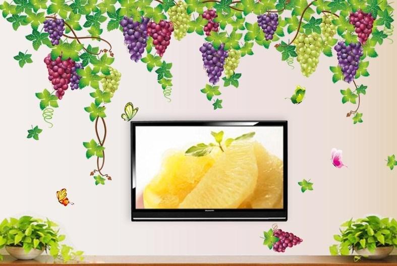 """Интерьерная наклейка на стену """"Виноград"""""""