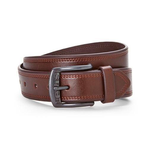 Ремень Levis Leather Belt - Black