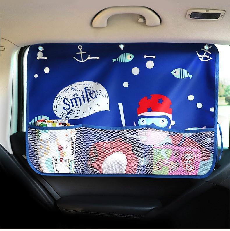 Солнцезащитная шторка-органайзер на окно автомобиля детская org9567