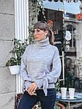 Женский теплый красивый свитер под горло с завязками на рукавах (разные цвета), фото 10