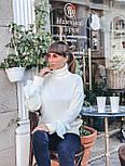 Женский теплый красивый свитер под горло с завязками на рукавах (разные цвета), фото 8
