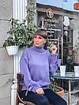 Женский теплый красивый свитер под горло с завязками на рукавах (разные цвета), фото 7