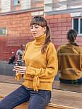 Женский теплый красивый свитер под горло с завязками на рукавах (разные цвета), фото 6