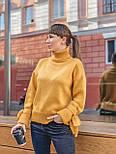 Женский теплый красивый свитер под горло с завязками на рукавах (разные цвета), фото 5