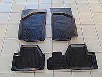 Коврики в салон резиновые для Renault Megane 3, Scenic, Lada 1118, 2190, Дубно YP, комплект 5шт