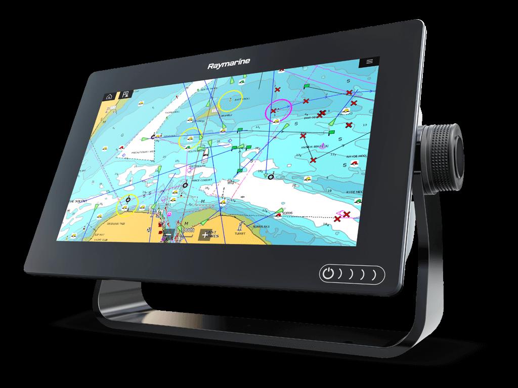 Эхолот Raymarine Axiom 9RV четырехлучевой , картплоттер 3D , цветной сенсорный дисплей,меню на русском
