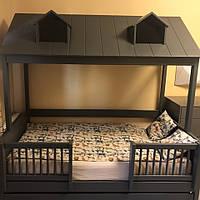 Кровать детская одноярусная домик деревянная FeliFam