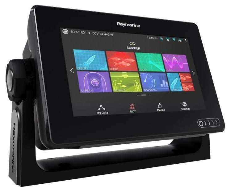 Ехолот Raymarine Axiom 7RV , картплоттер 3D , кольоровий сенсорний дисплей,меню російською