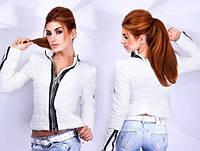 """Женская короткая куртка """"Moncler"""" в расцветках со змейками  Ш672"""
