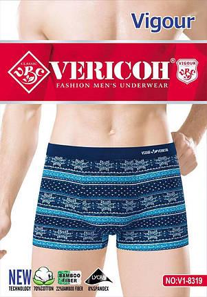 Трусы для мужчин Vericoh хлопок + бамбук орнамент, фото 2
