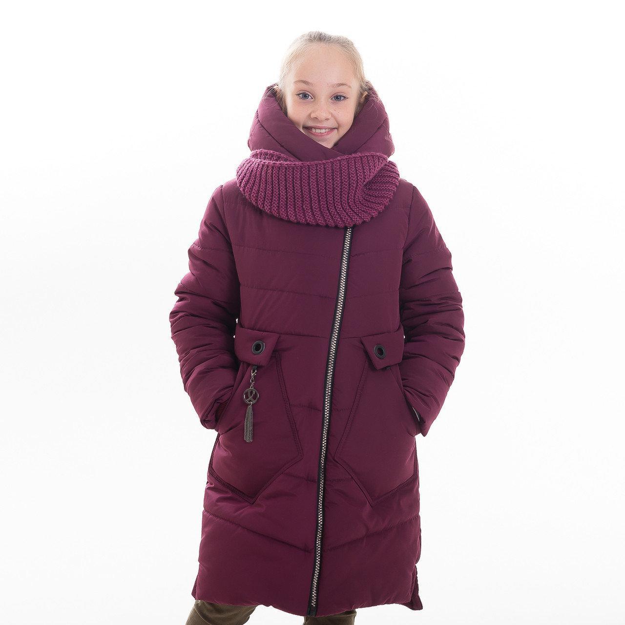 """Зимняя куртка - пальто для девочек подростков """"Марри"""", р-ры на рост 134 - 152"""