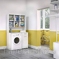 Шкаф под стиральную машину с полками, фото 3