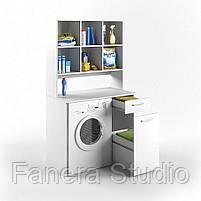 Шкаф под стиральную машину с полками, фото 4