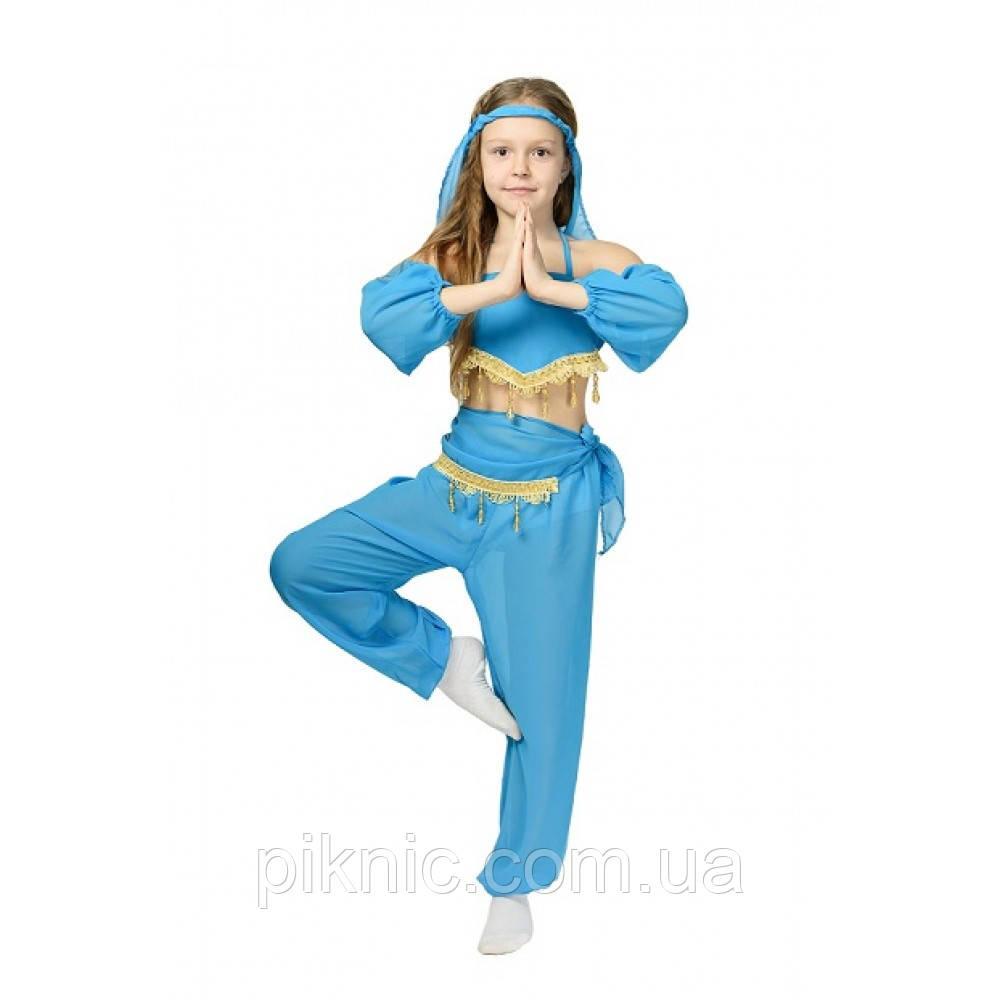 Костюм Восточная Красавица для девочек 5-8 лет Детский карнавальный костюм Восточная Танцовщица Синий 344