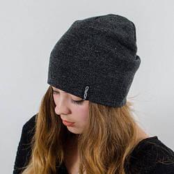 Молодежная шапка Nord унисекс удлиненная серый меланж (669)