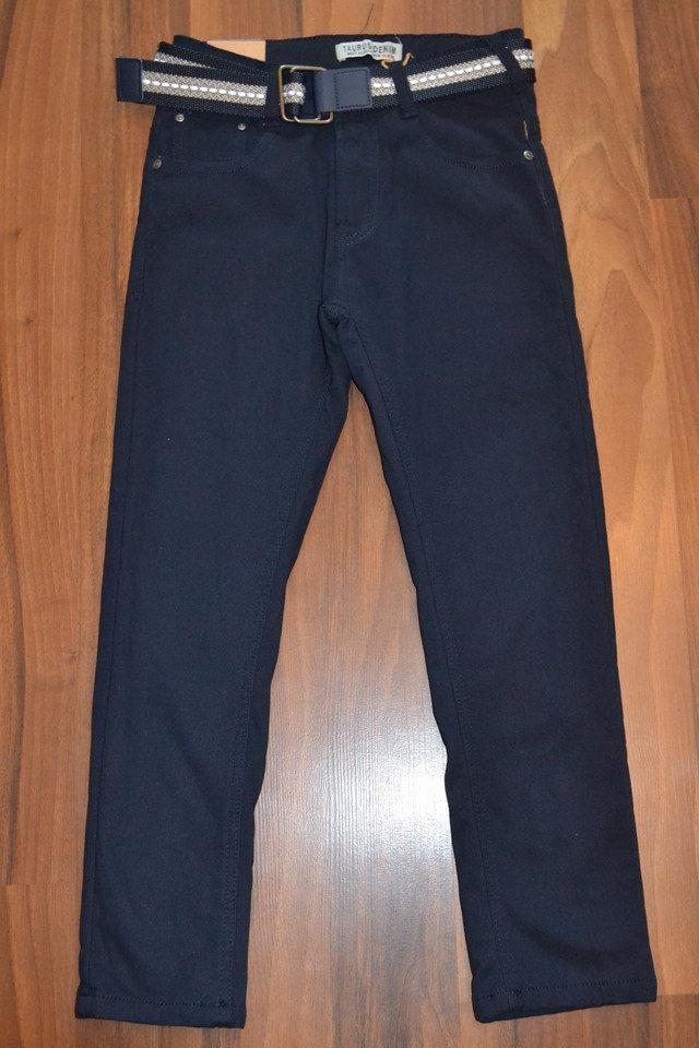 УТЕПЛЁННЫЕ,СИНИЕ, Котоновые брюки на флисе для мальчиков подростков.ШКОЛА! размеры 134-164 см.