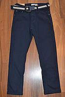 УТЕПЛЁННЫЕ,СИНИЕ, Котоновые брюки на флисе для мальчиков подростков.ШКОЛА! размеры 134-164 см. , фото 1
