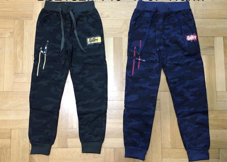 Cпортивные камуфляжные брюки для мальчиков с начесом Grace 146  p.p.