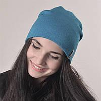 Молодежная шапка Nord унисекс удлиненная серо-голубой (669) *