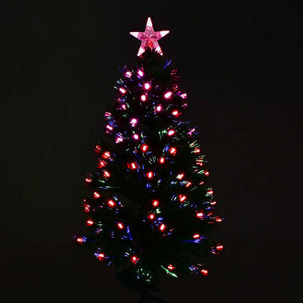 Искусственная ёлка светящаяся С 29326 (10) 90см, 80веток