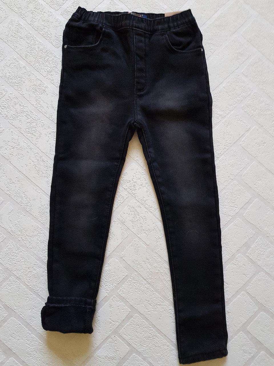 Чёрные Джинсы утеплённые на флисе для девочек ,размеры 134-164 см.Фирма GRACE .Венгрия