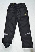 Плащёвочные,утеплённые термо-штаны на флисе для мальчиков,размеры 134-164 см.Фирма Grace.Венгрия