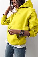 Толстовка с капюшоном  женская женская красивая стильная худи  р 42-46 (код 0827-00)