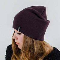 Молодежная шапка Nord унисекс удлиненная марсала (669)