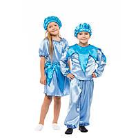 Детский карнавальный костюм Капелька для девочек 4,5,6,7 лет. Капля, Дождик, Ручеек, Облачко 341