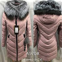 Зимняя женский куртка чернобурка А970
