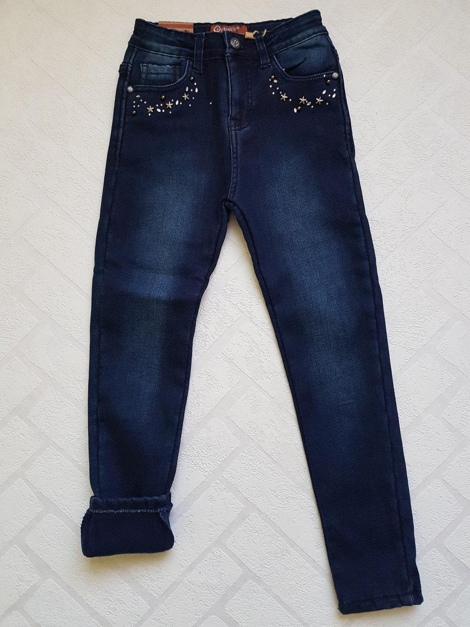 Утепленные джинсы на флисе для девочек GRACE,разм 134-152