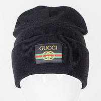 Молодежная Nord шапка c нашивкой черная (9563)*