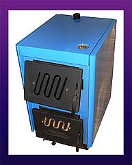 Твердотопливный котел Огонек КОТВ (увеличенная камера), 16 кВт (СТАЛЬ 4 мм)