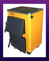 Твердотопливный котёл Огонек с плитой КОТВ-14П (СТАЛЬ 4мм)