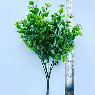 Искусственный пластиковый куст. Куст-дополнитель (зелёный ), фото 2