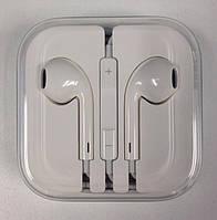 Проводные пластиковые наушники Apple EarPods вкладыши белого цвета