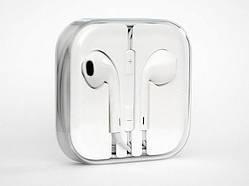 Проводные пластиковые наушники для телефона Apple EarPods Белый