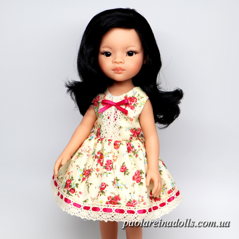 """Платье """"Малиновые розы"""" для кукол Паола Рейна"""