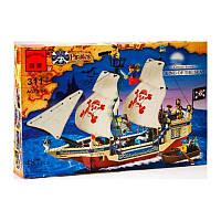"""Конструктор  Brick 311 """"Пиратский корабль"""" или """"Корабль пиратов"""" из серии Пираты"""