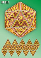 Набор алмазной вышивки  ТМ Вдохновение НОВОГОДНИЙ ШАР IP211